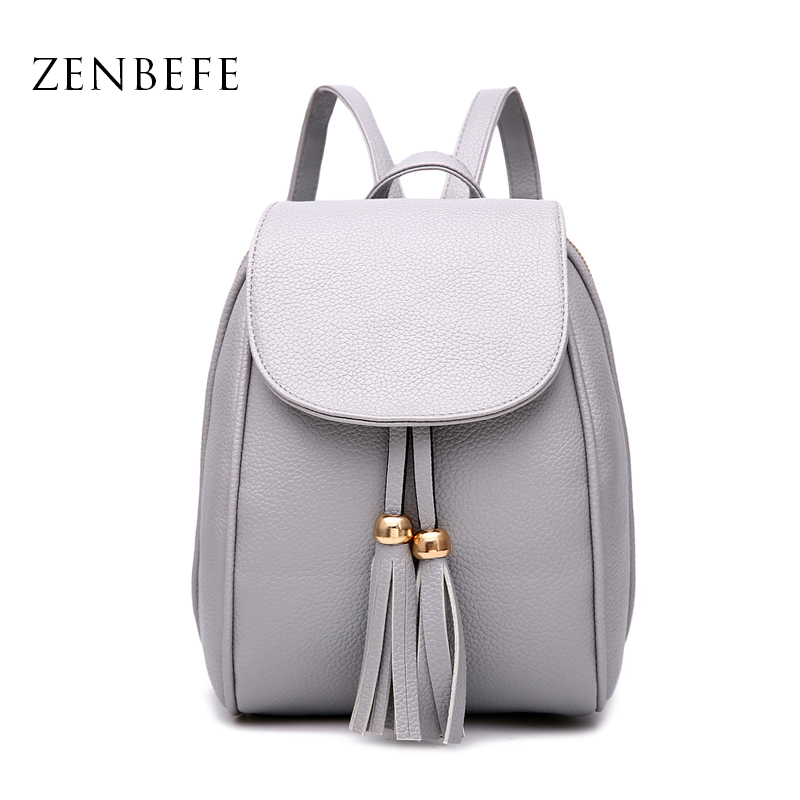 ZENBEFE Mini PU Leather WomenS Backpack Casual PU Ladies Backpacks Candy Color Women Bag Small Backpack For Women Daily Bag<br><br>Aliexpress