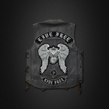 Free rider Harley embroidered patches personality standard cloth cloth chapter motorcycle leather 35* 47CMHELLS ANGELS vest