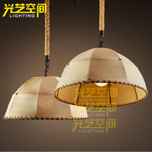 For american style pendant light decoration pendant light preparation of handmade hemp pendant light