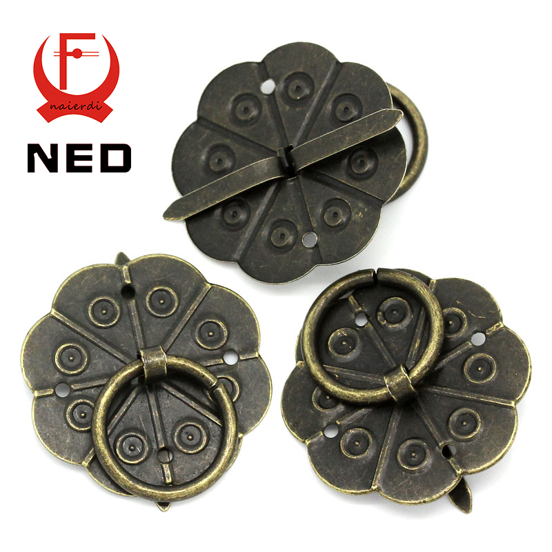 NED 30pcs Classical Bronze Tone Quincunx Drawer Cabinet Desk Door Pull Box Handle Knobs Furniture Handles Hardware With Screws<br><br>Aliexpress
