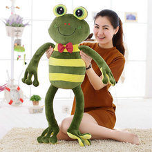 70/90cm Cartoon stripe frog plush toy multicolour frog cloth doll Large frog pillow kids toys female wedding birthday gift