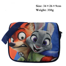 Zootopia Messenger Bag 2016 New Cartoon Kids Shoulder Bag Judy Hopps Nick Wilde Book Bag for School Kids Handbag Birthday Gifts(China)