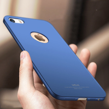 Msvii For Apple Iphone 5S case iphone SE case cover luxury Hard Frosted PC Back Cover 360 Full Protection back cover