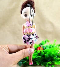 BOHS Pretty Beautiful Gift for Girls miniature Micro Dolls & Accessories  Toys, 6 colors  18cm