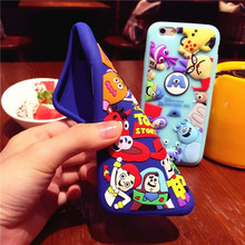 For Disney Case Cartoon&Funning Case For Apple iPhone 7 7PLus Monsters&Animals Silicone Cellphone Case For iPhone 7 Back Covers