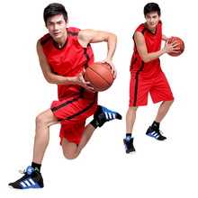 Free shipping Adult Basketball Jerseys Uniforms Men Team Sport Tracksuits Man Trainning Sets 4FYG1057(China)