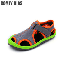 Comfy kids new arrivals outdoor beach child boys sandals swiftwater shoes easy on flat with fashion boys kids sandals for girls(China)