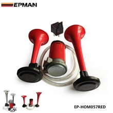 EPMAN -12V TWIN TONE AIR HORNS KIT FOR CAR,BOAT,VAN,TRUCK LOUD HORN/TRUMPET SET For Seat 2001-2006 EP-HOM057RED(China)