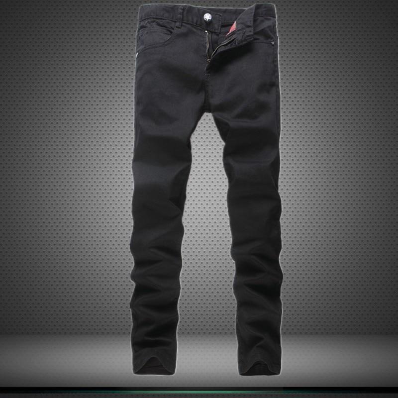 Hot Black Fashion Classic Mens Jeans Casual Slim Straight Legged Biker Jeans Men Denim Skinny Pants Simple Brand Long TrousersОдежда и ак�е��уары<br><br><br>Aliexpress
