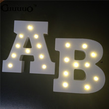 Wooden 26 Letter Alphabet LED Sign Marquee Light Up Night LED Lamp Grow Light Wall Decoration For Children Bedroom Wedding Decor(China)