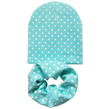 Fashion Baby Boys Girls Hats Beautiful Love Heart Dot Star Infant Hats Scarf Set 2 Pcs In Set Baby Hat Baby Cap for 0 to 3 Years