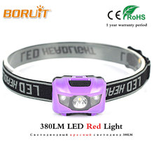 BORUIT Brand Mini 380LM LED Headlight 4 Modes Portable Torch Lanterna Headlamp Red Light For Camping Fishing Hunting Head lights