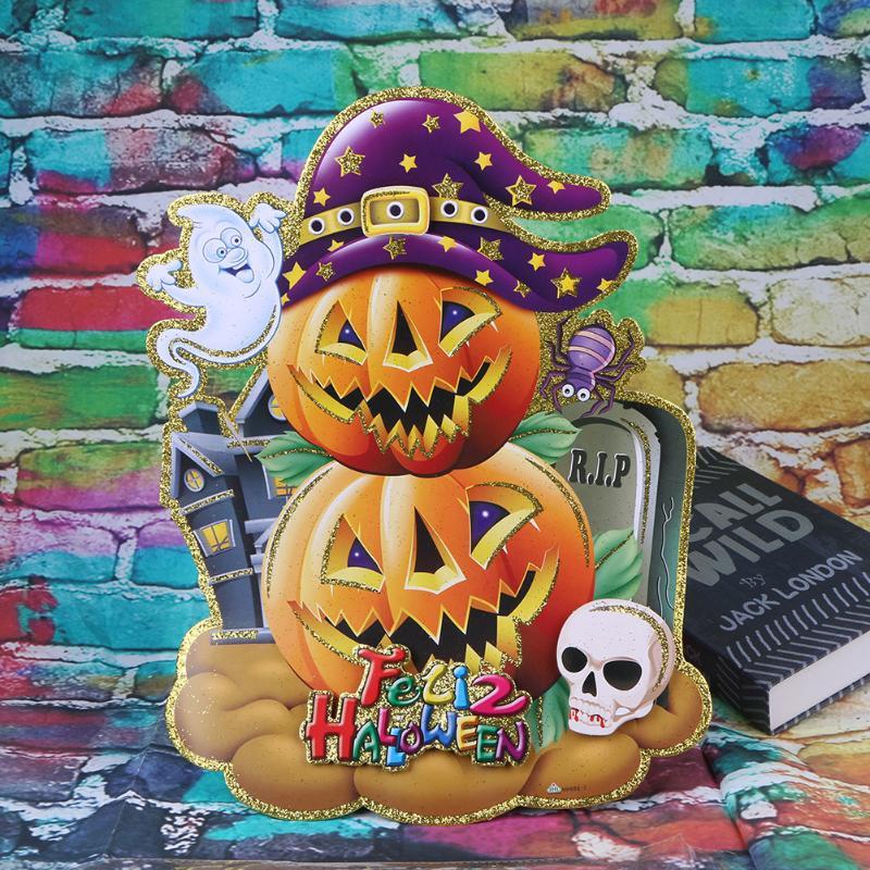 3d cartoon kidroom pumpkin wall sticker decoration stickers halloween party bar dance props funny games festival