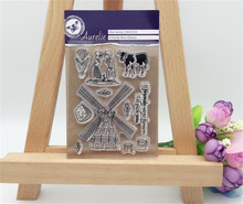 About loving in of village flowers Design Transparent Stamp DIY Scrapbooking for wedding gifr christmas gift paper card LL-028