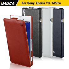IMUCA Case For Sony Xperia T3 M50w luxury Flip Leather Cover For Xperia T3 M50w D5103 cell phone cases accessories(China)
