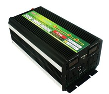 2000w dc 12v to ac 220v power inverter with ups charger LED display battery charge inverter price(China)