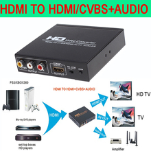 HDMI to HDMI and CVBS Video Converter  Support NTSC and PAL two standard TV formats Applied to STB XBOX360 PS3 HD players