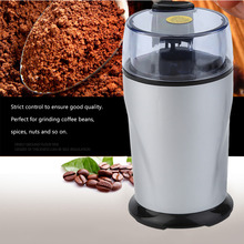 Professional Electric Coffee Beans Mill Spice Herbs Nuts Grinder Coffee Maker Stainless Steel Blades Grinding Home Coffee Shop