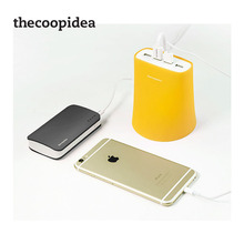 TheCoopIdea 4 Port USB Desktop Mobile Charger For iPhone iPad iPod Android Smartphones Travel Charger gray pink blue UK Plug