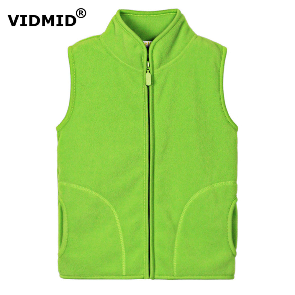 VIDMID Vest for girls Winter Outerwear Brand Children Fleece Warm Thicken Waistcoat Turtleneck Solid Jacket Boys Girls  1097 10