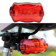 LED Bike Light 5 LED Rear Tail Daytime Running Lights Red Bicycle Back Lamp Rear Tail Parking Cycling Accessories