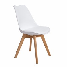 EGGREE Set of 4 Dining Room Chair Fashion 100%oak wood feet plastic chair Creative chair living room furniture Leisure chair