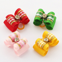 Armi store Handmade Ribbon Hair Dog Bow  Dogs Grooming Bows 6021030 Small Pet Accessories   Wholesale