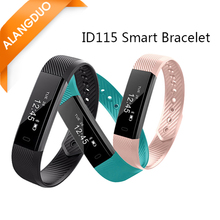 ALANGDUO ID115 Smart Bracelet Fitness Tracker Sleep Monitor Track Smart Band Watch Alarm Clock with Step Counter HR Sport Clock