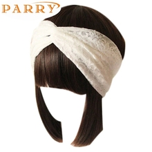 Newly Design Women Lace Head Band Retro Turban Wrap Headband Twisted Knotted Soft Hair Band Drop Shipping