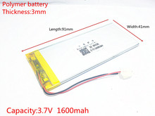 SD free shi XWD 304191P 3.7V KEBE PL304191 304192 PL304190 1600MAH LI- ION POLYMER battery for china clone S6 S9600 MTK phone(China)