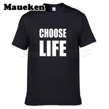Men George Michael CHOOSE LIFE WHAM Replica RIP T-shirt Clothes Short Sleeve T SHIRT Men's Fancy Dress W1225001(China)