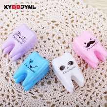 1 Pcs Lovely Unique Cute Tooth Teeth Pencil Plastic Sharpener Pencil Cutter Knife Korean Stationery School Supplies Papelaria(China)