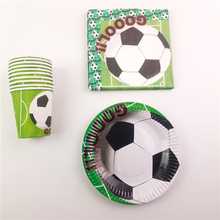 Football Soccer Theme Kids Birthday Party Decoration Set Party Supplies Football World Cup Party Pack event Party Supplies 40pcs(China)