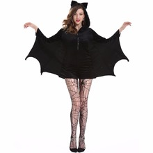 2017 new hq black 2xl 3xl 4xl plus size female bat apparel sexy bat cosplay costumes Halloween Costumes for Women Sexy M-4XL(China)