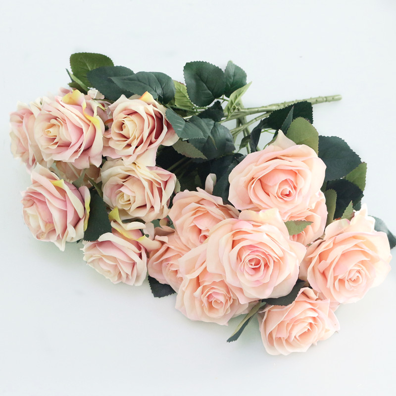 Artificial silk 1 Bunch French Rose Floral Bouquet Fake Flower Arrange Table Daisy Wedding Home Decor Party accessory Flores (3)