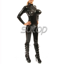 rubber latex sexy adult garment latex inflatable catsuit rubber zentai cross dressing costume SUITOP SM COSPLAY