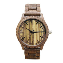 Buy TJW Fashion Nature Wood Wrist Watch Analog Sport Bamboo Black men wooden watch leather Women Gift men wooden quartz watch TT@88 for $14.36 in AliExpress store