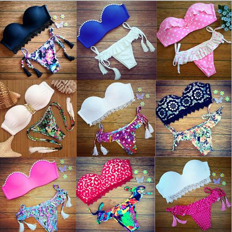 Women Lace Bikini Set Sexy Hipster Printing Bikinis Swimwear Women Swimsuit Brazil Bikini Set Tassel Bathing Suit <br><br>Aliexpress