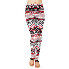 Fashion Bohemian Style Digital Print High Waist Spandex Leggings Casual Fitness Apparel Legging Push Up Active Wear Hot Pants