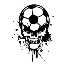 8.8*12.2CM Games Football Personality Skull Car Stickers Fashion Custom Vinyl Decals Black/Silver C7-0514(China)