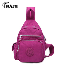 TEGAOTE 2017 Sling Bag Men Messenger Bags Waterproof Leisure Solid Shoulder Bags Fashion Crossbody Chest Pack Bags(China)