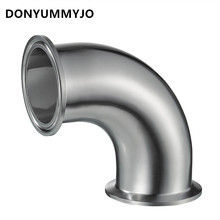 "DONYUMMYJO 51MM 2"" Sanitary Ferrule Elbow 90 Degree Pipe Fittings Tri Clamp Stainless Steel S304(China)"