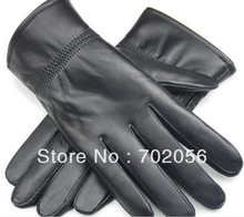 Unisex women mens Genuine Leather Gloves skin gloves LEATHER GLOVES 12 pairs/lot #3141