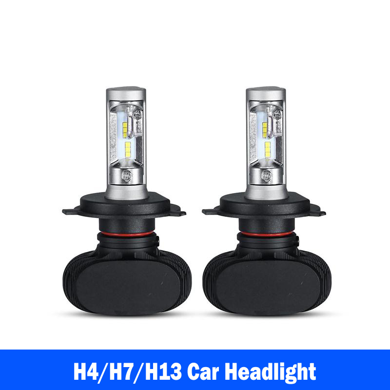 2PCS H4/H7/H13 Hi-Lo Beam LED Headlight Bulbs CSP Cree Chips 8000lm 50W 6500K All In One Car Headamp Fog Light Conversion Kit<br><br>Aliexpress