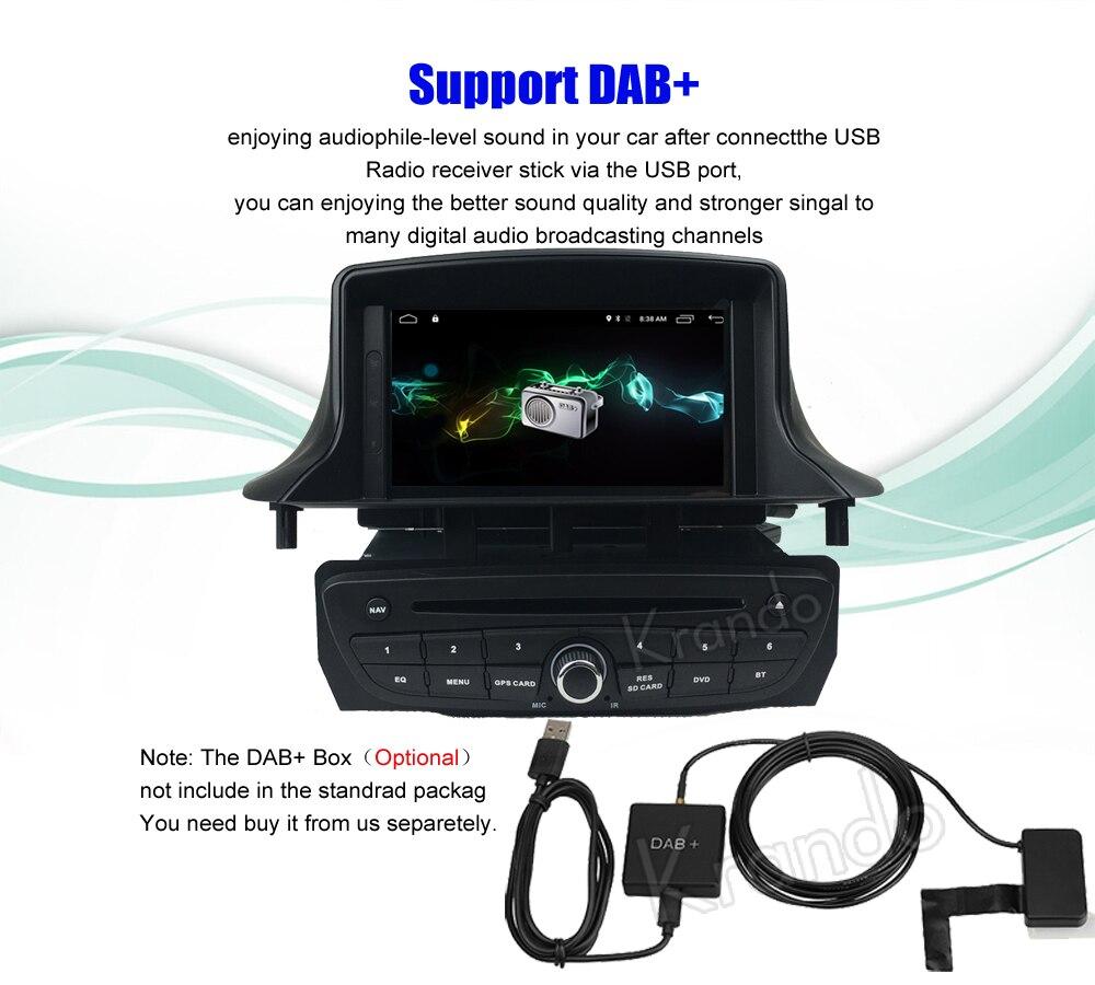 krando android car radio gps for renault megane 3 navigation multimedia system (8)