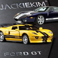 High quality Sports car racing, high simulation 1:32 scale alloy pull back cars,Ford GT models,metal toys,free shipping