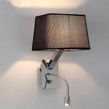 Bedroom large Dimmable mechanical wall lamp with led night light industrial wall sconce led reading light Restaurant rectangle