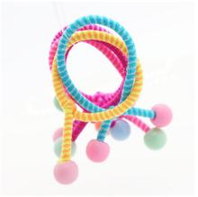 5 PCS 3 CM Cute Child Baby Kids Hair Band Striped Beads Ponytail Holders Hair Accessories For Girl Rubber Band Tie Gum For Girl(China)