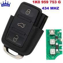 3 Buttons 433MHZ/434MHZ Remote Control for VW Key Part # 1K0 959 753 G for 1K0959753G(China)