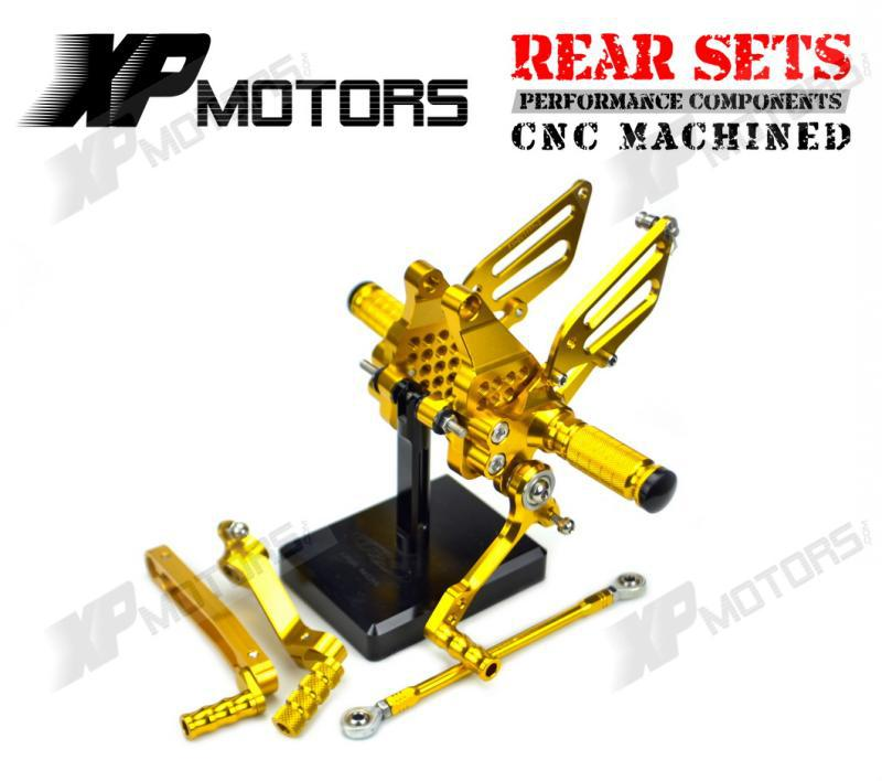 High Quality CNC Racing Foot pegs Adjustable Rear sets Footrest For Ducati 999 999S 999R 2003 2004 2005 2006 Gold<br><br>Aliexpress